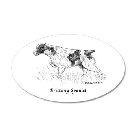 Brittany Spaniel 20x12 Oval Wall Decal