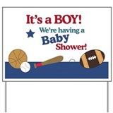 All Stars Sports Baby Shower Yard Sign