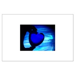 Blue Heart Posters
