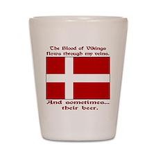 Danish Viking & Beer Shot Glass