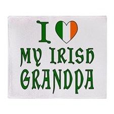 I Love My Irish Grandpa Throw Blanket