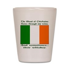 Irish Blood and Whiskey Shot Glass