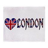 Love London Throw Blanket