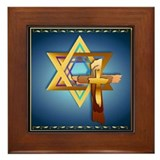 Star Of David and Triple Cros Framed Tile