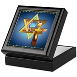 Star Of David and Triple Cros Keepsake Box
