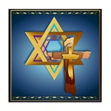 Star Of David and Triple Cros Tile Coaster