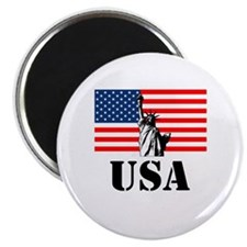 """Statue of Liberty, US Flag 2.25"""" Magnet (100 pack)"""