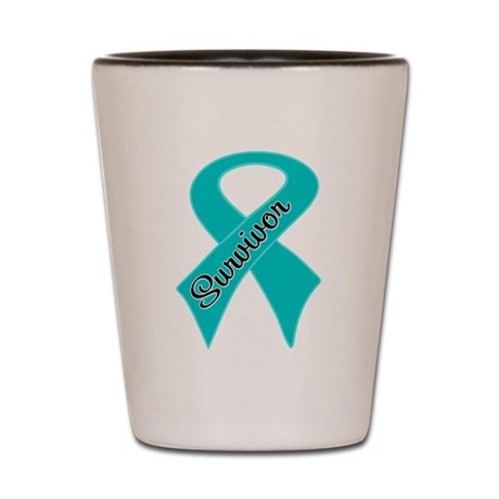 Ovarian Cancer Survivor Shot Glass