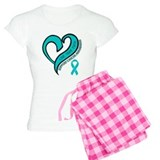 Ovarian Cancer Love Faith pajamas