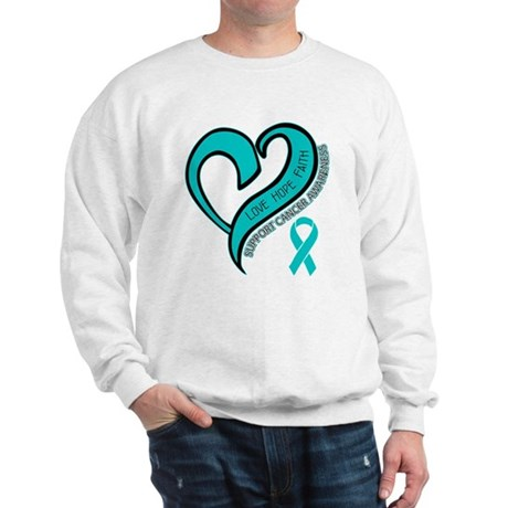 Ovarian Cancer Love Faith Sweatshirt