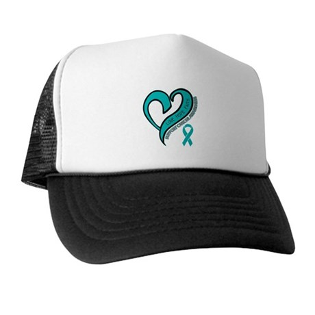 Ovarian Cancer Love Faith Trucker Hat