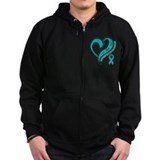 Ovarian Cancer Love Faith Zip Hoody