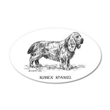 Sussex Spaniel 38.5 x 24.5 Oval Wall Peel