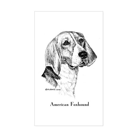 American Foxhound Sticker (Rectangle)