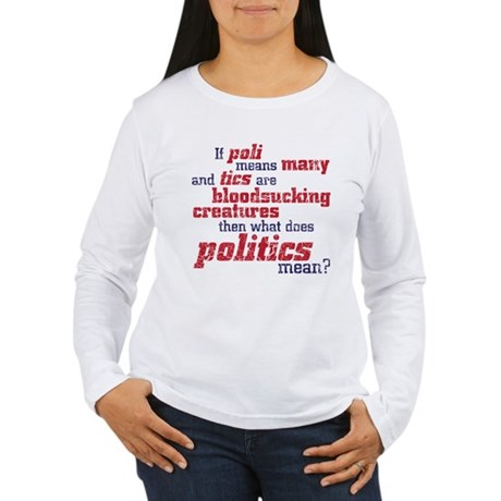 what does politics mean? Women's Long Sleeve T-Shi