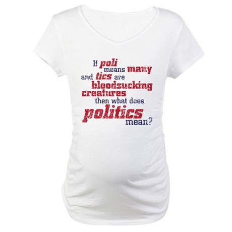 what does politics mean? Maternity T-Shirt