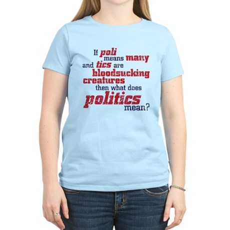 what does politics mean? Women's Light T-Shirt