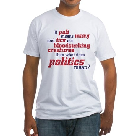 what does politics mean? Fitted T-Shirt