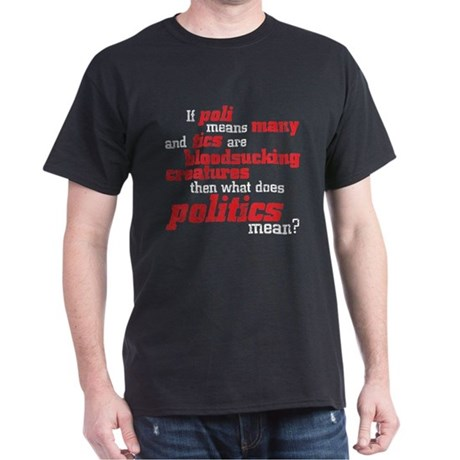 what does politics mean? Dark T-Shirt