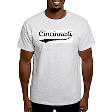 Vintage Cincinnati Ash Grey T-Shirt