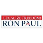 Ron Paul Legalize Freedom Sticker (Bumper 50 pk)