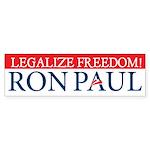 Ron Paul Legalize Freedom Sticker (Bumper)