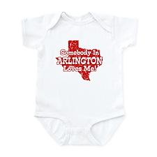 Somebody In Arlington Loves Me Infant Bodysuit