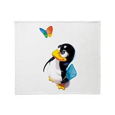 Cute Linux Throw Blanket
