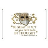 Shakespeare Great In Thought Quote Banner