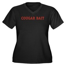 Cougar Bait Women's Plus Size V-Neck Dark T-Shirt