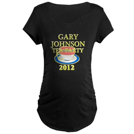 2012 gary johnson tea party Maternity Dark T-Shirt