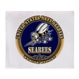 USN Navy Seabees Throw Blanket
