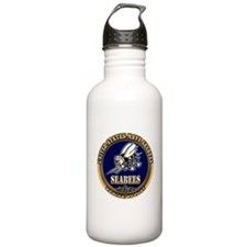 USN Navy Seabees Water Bottle