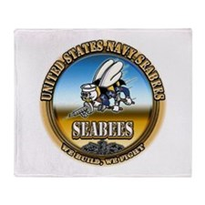 US Navy Seabees Throw Blanket