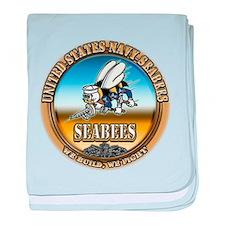 US Navy Seabees baby blanket