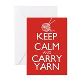 Keep Calm and Carry Yarn Greeting Cards (Pk of 20)
