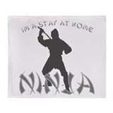 Stay at Home NINJA Throw Blanket