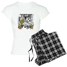 I Love Pugs, puppy lover Pajamas