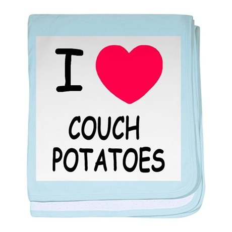 i heart couch potatoes baby blanket
