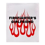 Firefighters Girlfriend Throw Blanket