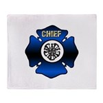 Fire Chief Gold Maltese Cross Throw Blanket