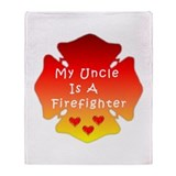 Firefighter Uncle Throw Blanket