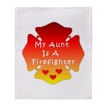 Firefighter Aunt Throw Blanket