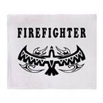 Firefighter Tattoos Throw Blanket