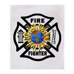 Firefighter Energy Planet Throw Blanket