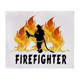 Firefighting Flames Throw Blanket