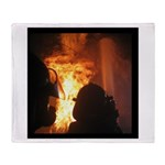 Firefighter Flashover Throw Blanket