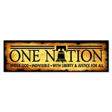 One Nation - Parchment Bumper Sticker