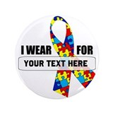 "Ribbon for... Personalizable! 3.5"" Button"