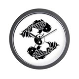 Yin Yang Koi Wall Clock